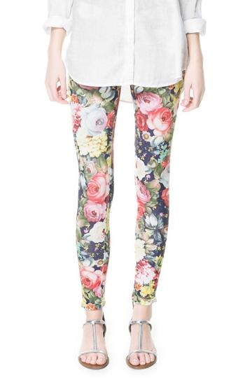 Vintage Elegant Flower Print Legging [FBBI00128]- US$ 10.99 - PersunMall.com