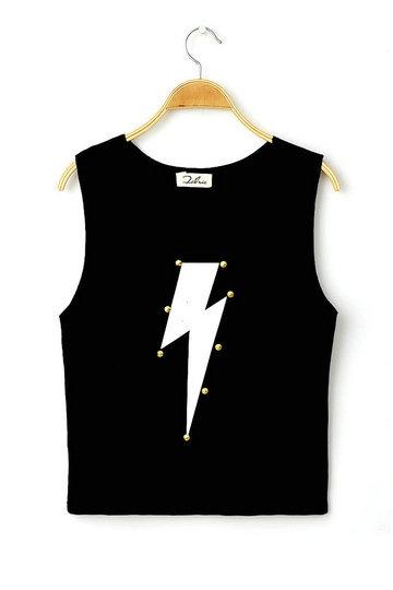 Lightning Black Short Vest [FCBI00145]- US$26.99 - PersunMall.com