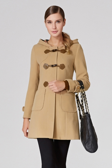 Pure Color Slim Hooded Toggle Coat [FEBK0455]- US$ 85.99 - PersunMall.com