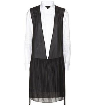 dress shirt dress cotton silk black
