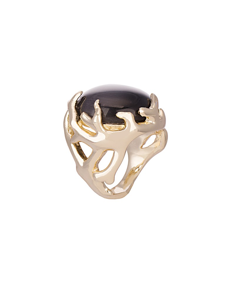 Shannon Cocktail Ring in Black Cat's Eye - Kendra Scott Jewelry