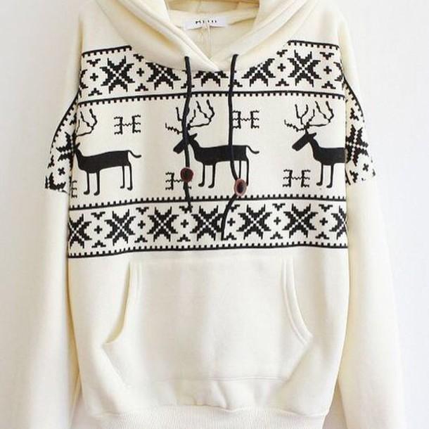 sweater printed sweater christmas aztec sweater hoodie