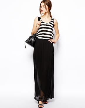 black maxi skirt | ASOS