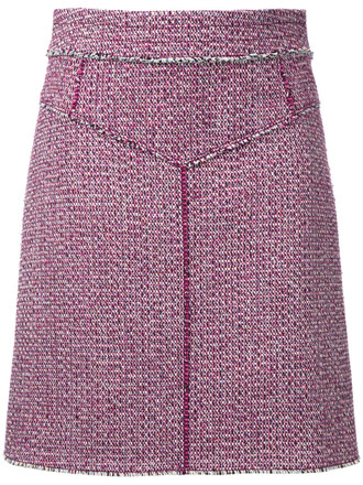 skirt women spandex cotton red