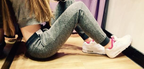 pants grey jogging nike air jd