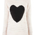 Cream Slub Heart Jumper at Fashion Union