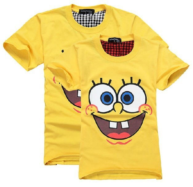 SpongeBob SquarePants T Shirt Lovers clothes Women's Men's casual O neck short sleeve t shirts for couples S  XXXL Cotton tees-in T-Shirts from Apparel & Accessories on Aliexpress.com