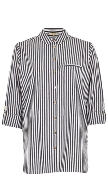 shirt black and white button up