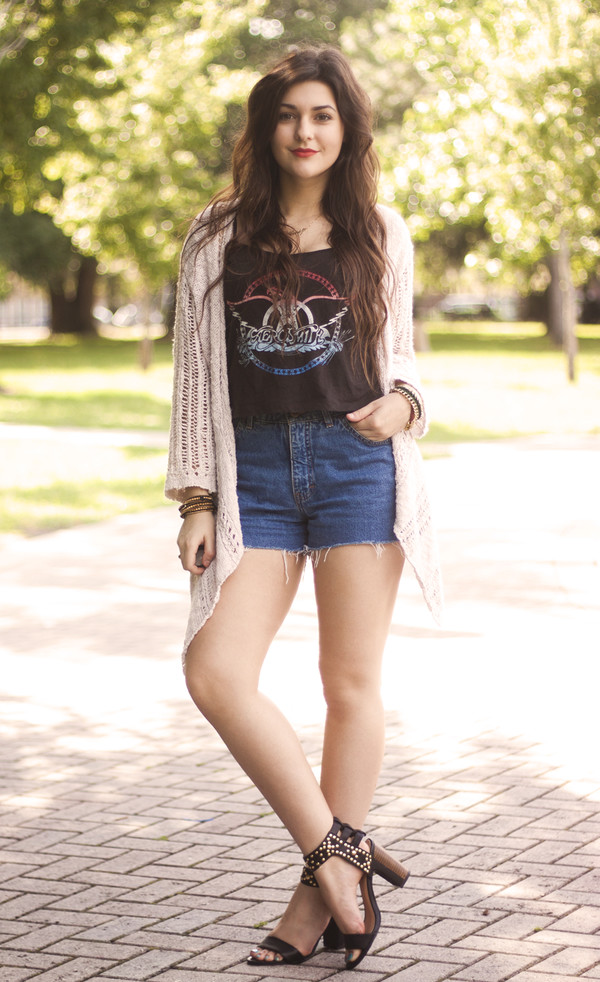 a walk in the park top shoes shorts cardigan jewels