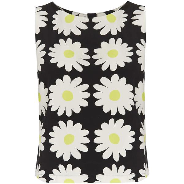 TOPSHOP Sleeveless Daisy Print Shell Top - Polyvore