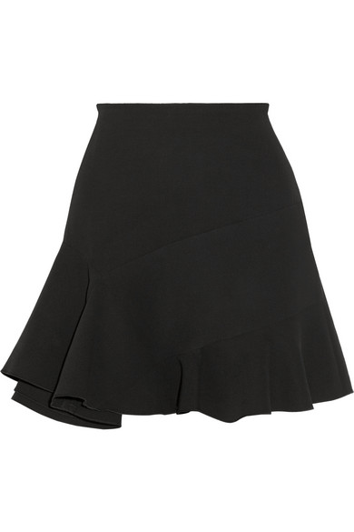 Victoria Beckham Fluted silk and wool-blend mini skirt NET-A-PORTER.COM