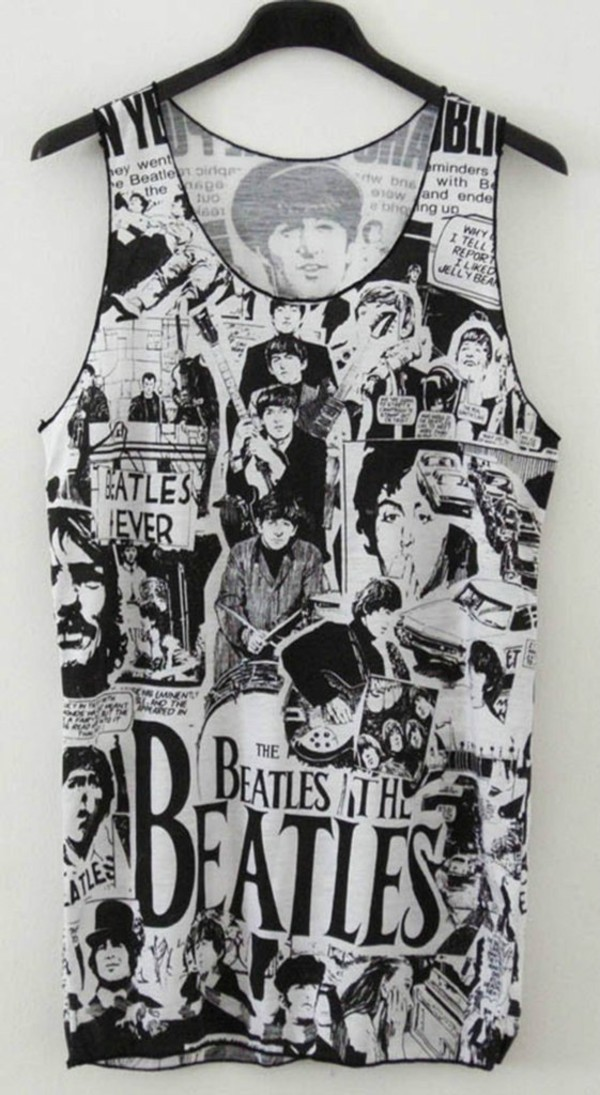 tank top shirt t-shirt music quote on it the beatles