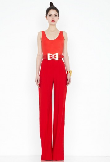 Laurent Red High Waisted Trousers AQ/AQ