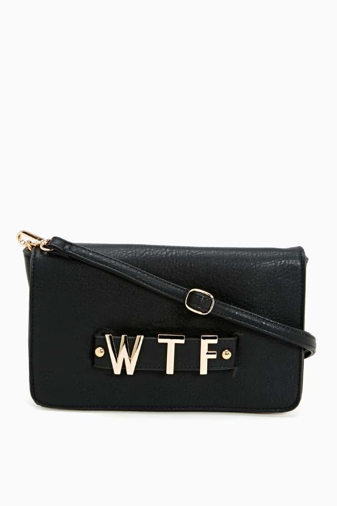 WTF Clutch in  Accessories Bags at Nasty Gal