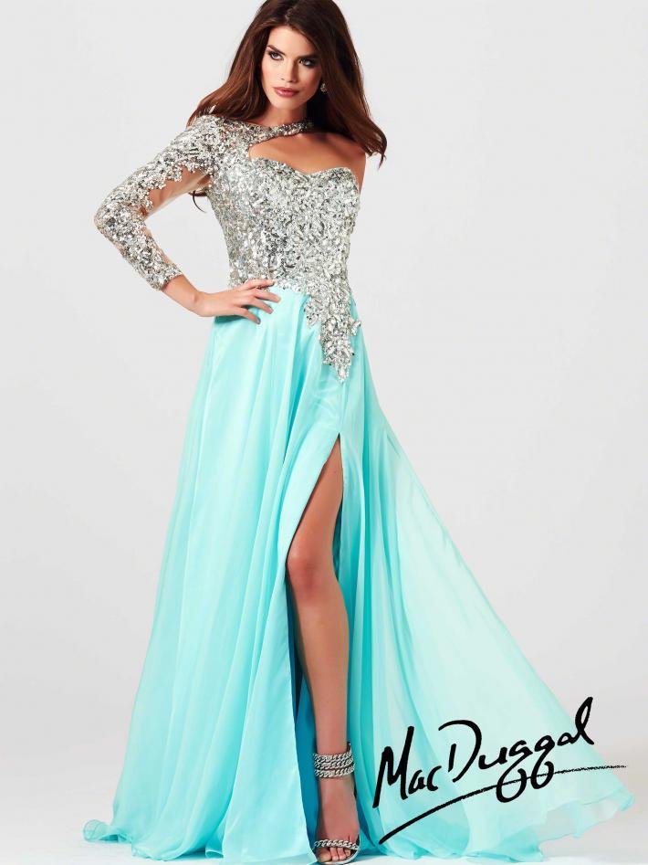 One Sleeve Prom Dress   Mac Duggal 85307M
