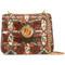 Chloé stitch detail shoulder bag, women's, brown, leather/suede