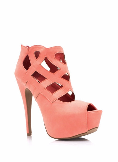 Shape-It-Up-Heels SALMON YELLOW BLACK - GoJane.com