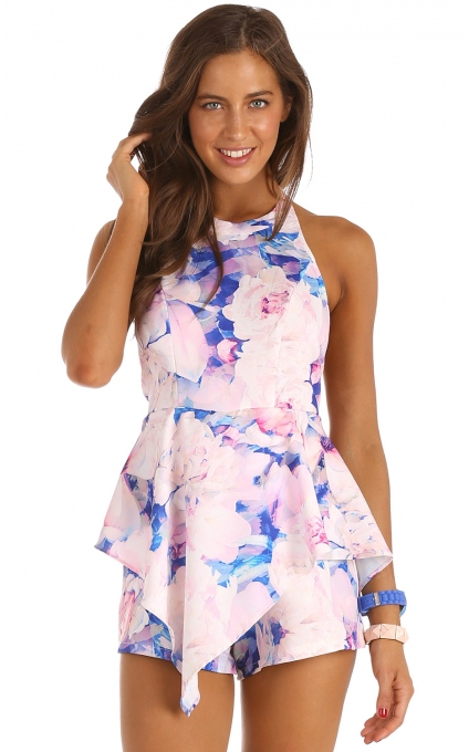 Playsuits/Jumpsuits > SWEET SOUL PLAYSUIT IN FLORAL