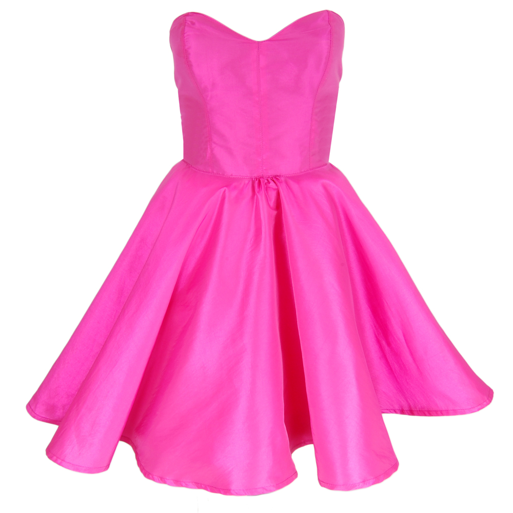 Pink Taffeta Party Dress | Style Icon`s Closet