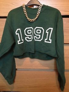 Topshop Tea And Cake Crop 1991 Sweatshirt Jumper S | eBay