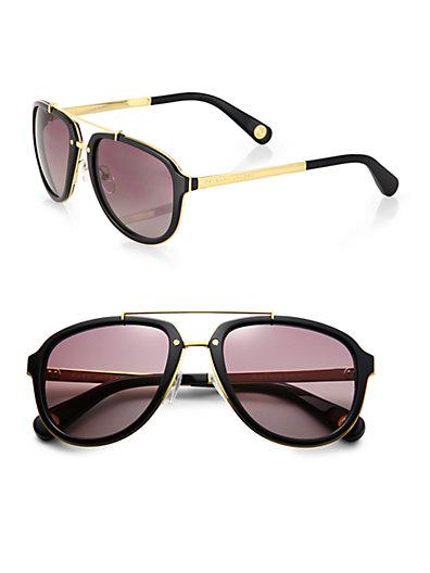 Marc Jacobs - Plastic & Metal Aviator Sunglasses - Saks.com
