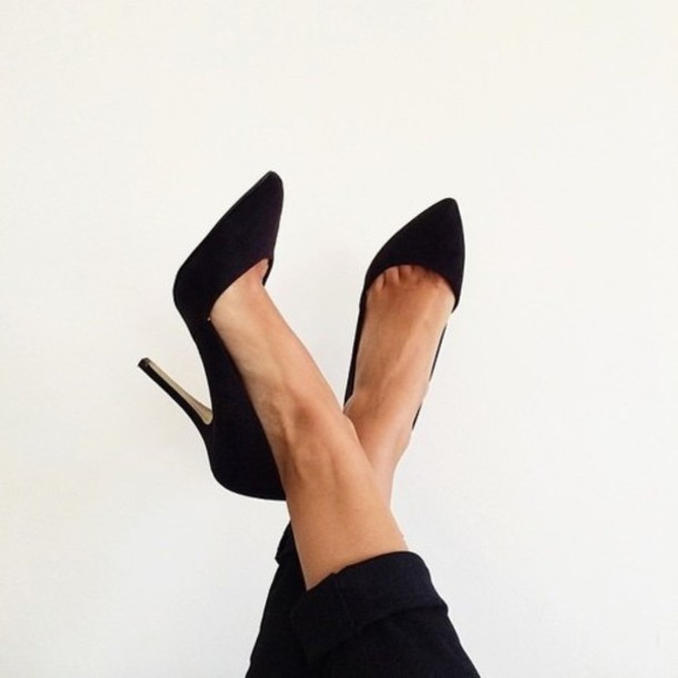 shoes black heels black shoes