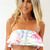 White Tube Top - White Floral Bandeau with Frill | UsTrendy