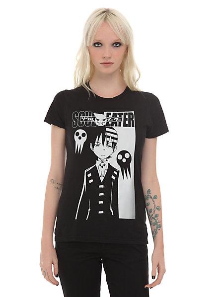 Soul Eater Black White Death Girls T-Shirt | Hot Topic