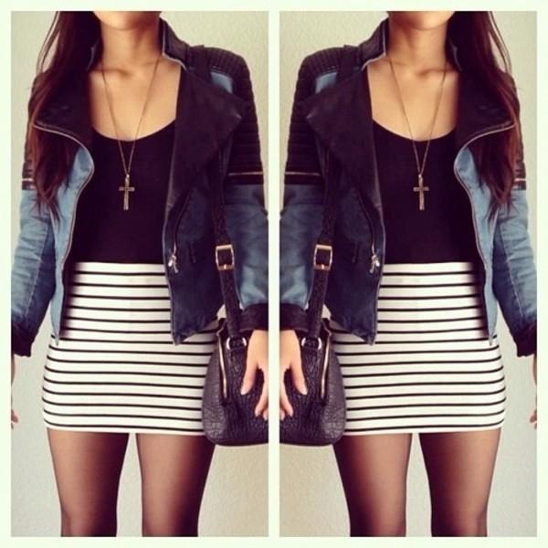 jacket dress jewels skirt