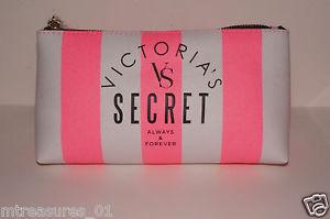 Victoria Secret Pink Stripe Makeup Bag   eBay