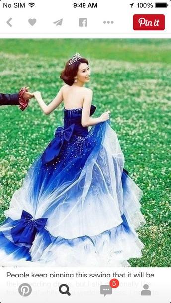 dress quinceanera dress royal blue dress ball gown dress princess dress