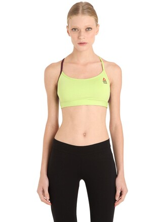 bra sports bra green underwear