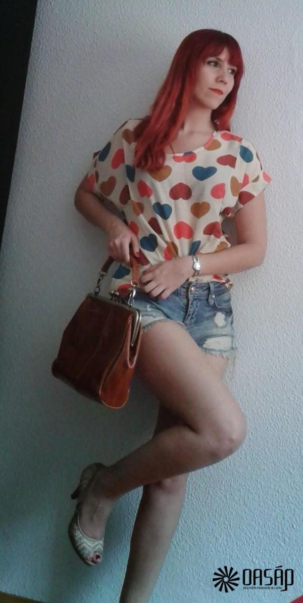 Vintage Kisslock Closure Shoulder Bag - OASAP.com