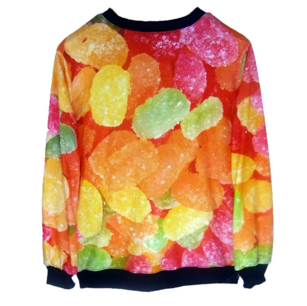 sweater food food food sweater candy