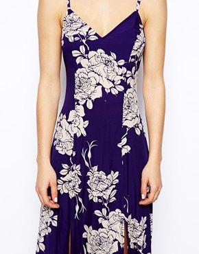 ASOS | ASOS Maxi Dress In Large Rose Print at ASOS