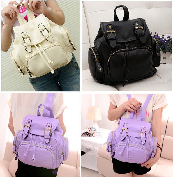 Cute Fashion Womens Girls Backpack Leisure Travel Bookbag Rucksack Bags Leather   eBay