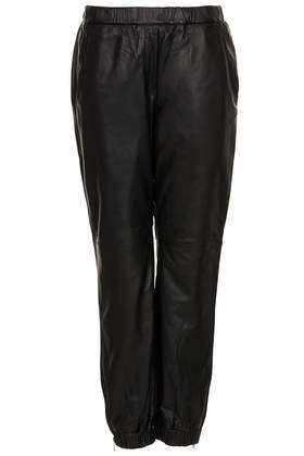Leather Joggers - Trousers  - Clothing  - Topshop Europe