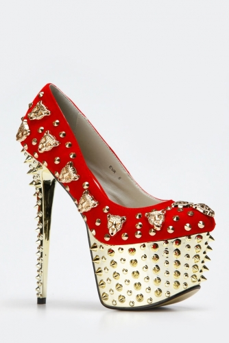 Red Kiss Lion Tamer Spike Heels @ Cicihot Heel Shoes online store sales:Stiletto Heel Shoes,High Heel Pumps,Womens High Heel Shoes,Prom Shoes,Summer Shoes,Spring Shoes,Spool Heel,Womens Dress Shoes,Prom Heels,Prom Pumps,High Heel Sandals