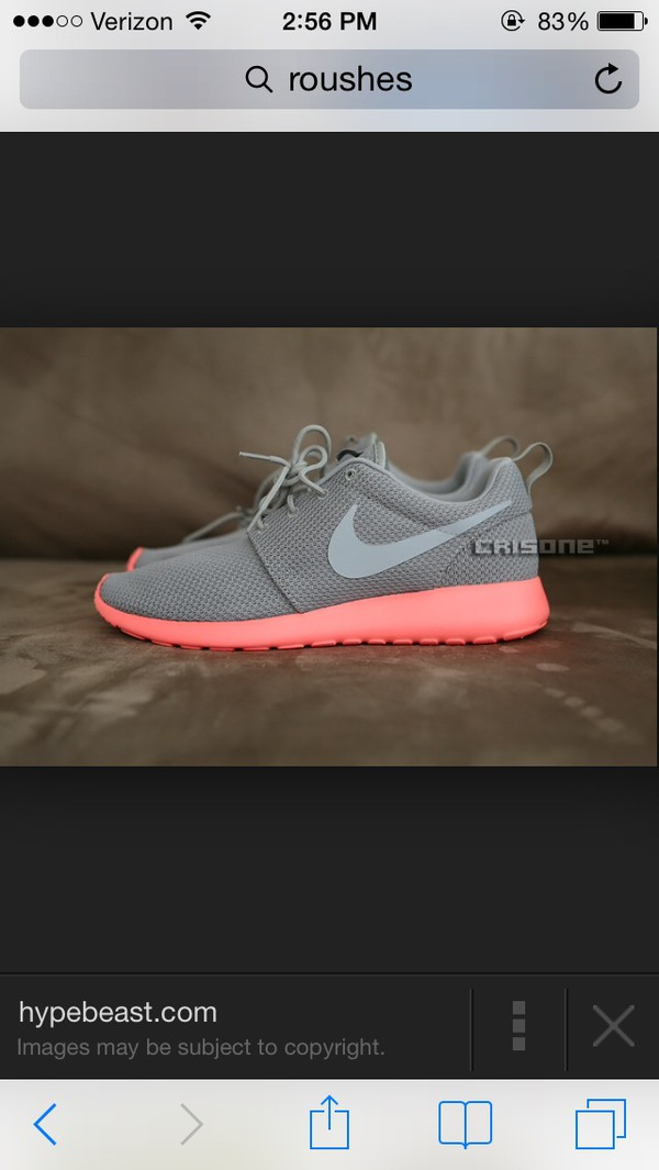 shoes nike pink grey rushes