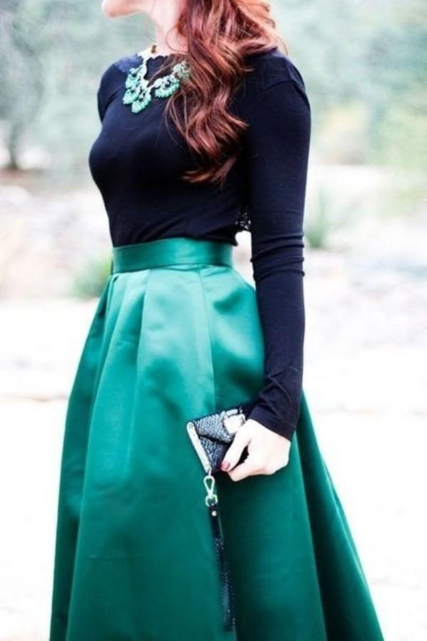 dress blouse skirt bag turquoise skirt