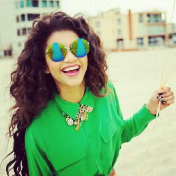 sunglasses zendaya blouse jewels
