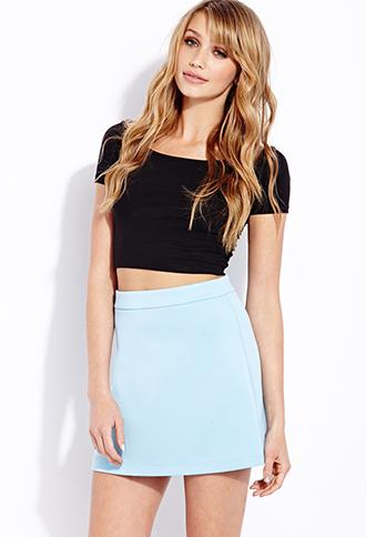 Favorite Scuba-Knit Skirt | FOREVER21 - 2000090407