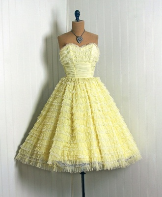 dress grease yellow 1950 50s style pin up vintage frenchie
