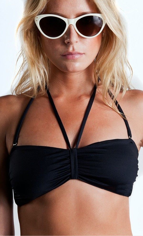swimwear black bikini bikini black bandeau bikini bandeau bandeau top