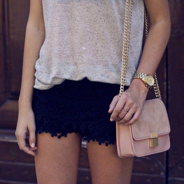 bag light pink gold chain handbag dusty pink chain bag pastel bag shorts