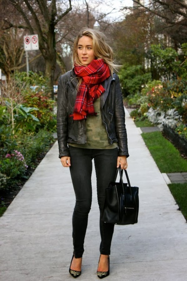 a fashion love affair shirt jacket jeans bag scarf shoes