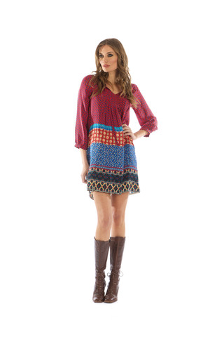Sava Red Tunic Dress   Tolani