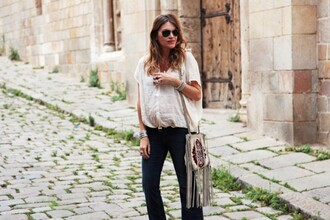 my daily style blouse jeans bag sunglasses jewels