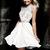 Beaded High Round Neckline A-line White Dress [Beaded High Round Neckline Dress 4300] - $154.00 : Discover Unique Dresses Online at PromUnique.com
