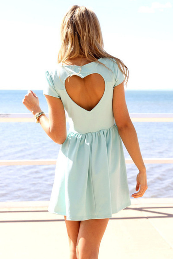 dress clothes blue dress heart Xenia xeniaboutique blue light blue summer dress summer pretty day dress cut-out dress cute dress